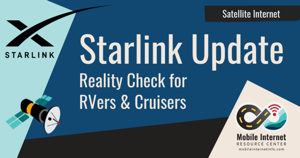Starlink satellite internet reality check rv and boat