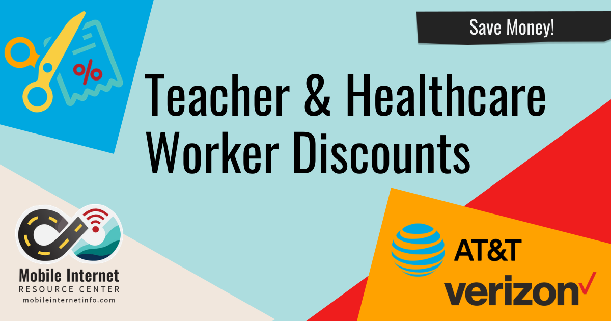 Teacher, Nurse & Doctor Discounts Available On Verizon & AT&T Unlimited Postpaid Accounts Header