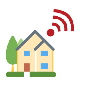House with a wireless internet connection