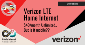verizon lte home internet rver boater suitable
