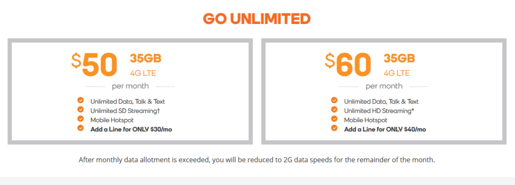 Boost Go Unlimited Plan Details as of August 2020