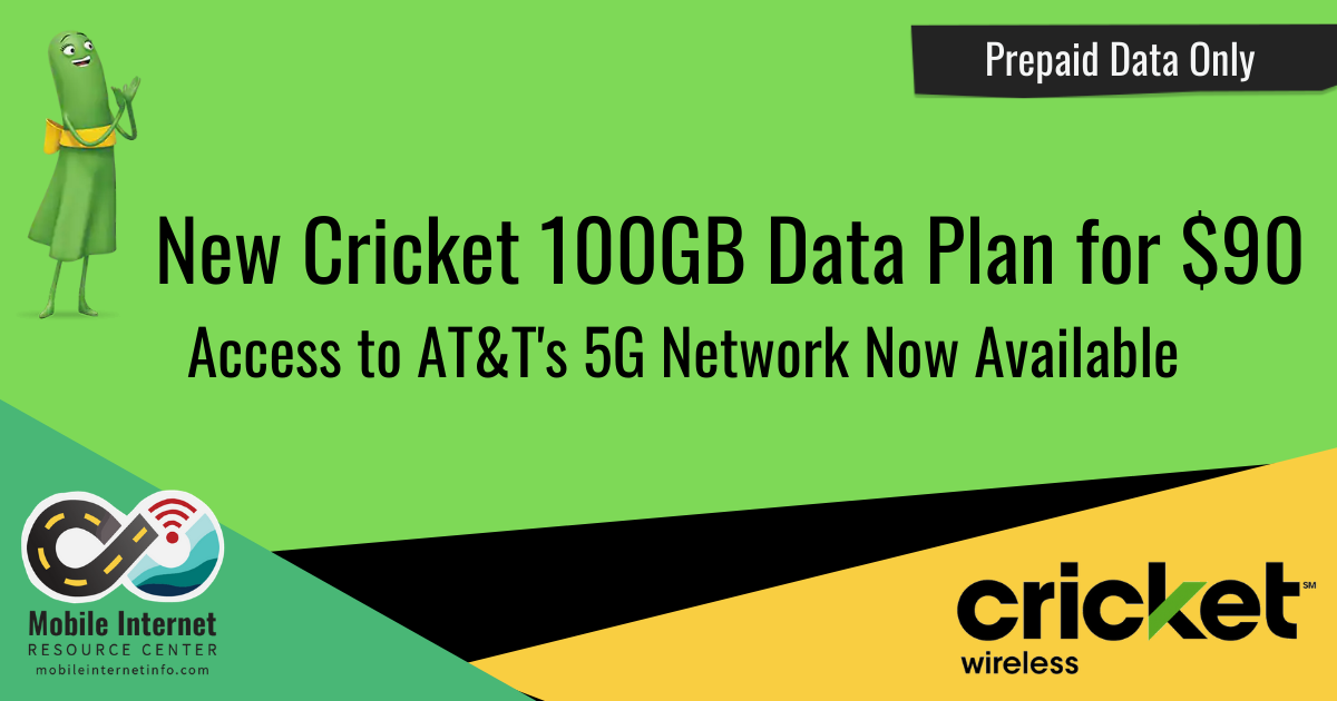 Article Header: Cricket Wireless Releases 100GB Data Plan