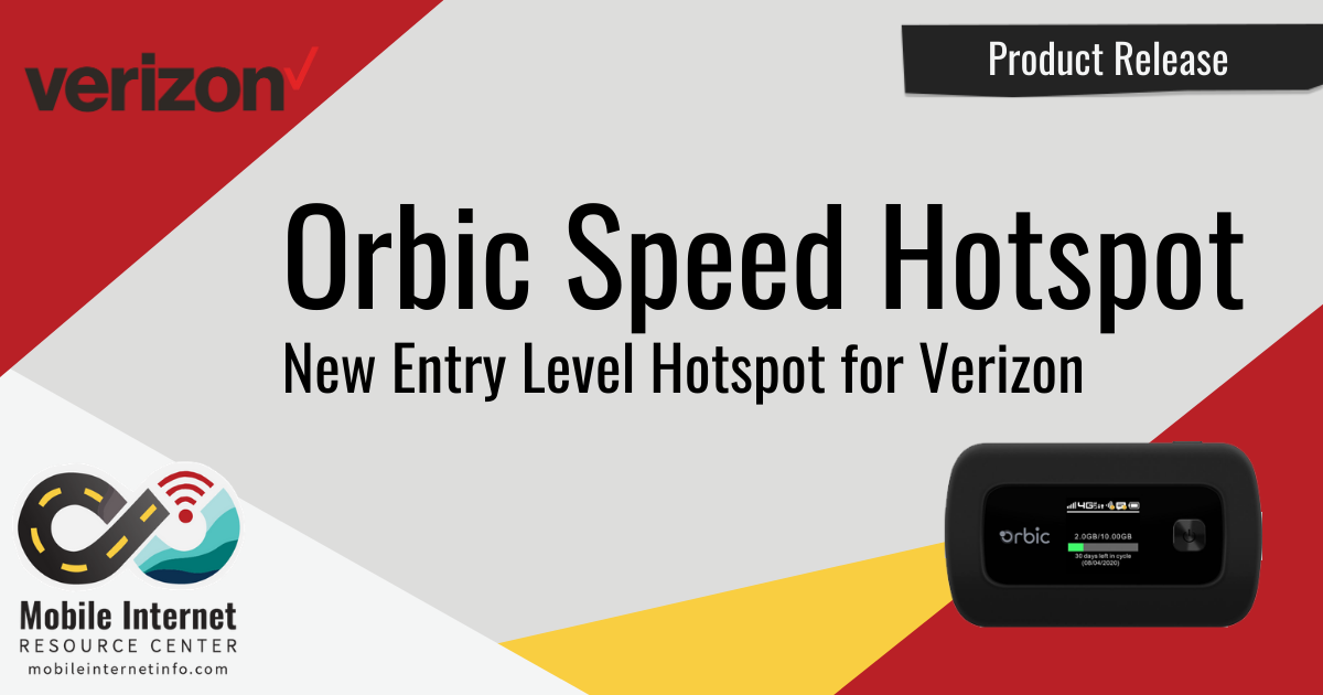 Article Header: Orbic Speed Mobile Hotspot Released
