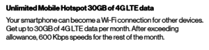 Verizon's Mobile Hotspot terms from August 2020