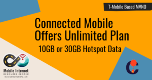 Article Header: Connected Mobile Offers Unlimited Plan with Mobile Hotspot