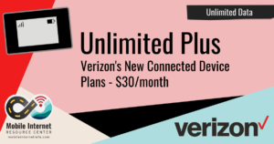 verizon unlimited plus connected devices jetpacks mifi routers tablets