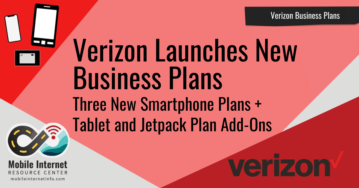 Article Header: New Verizon Business Plans Launched
