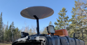 Starlink dish on an ATV