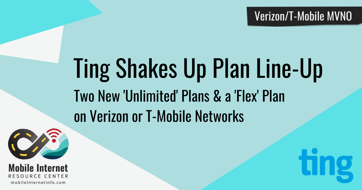 News Header: Ting's new plan lineup
