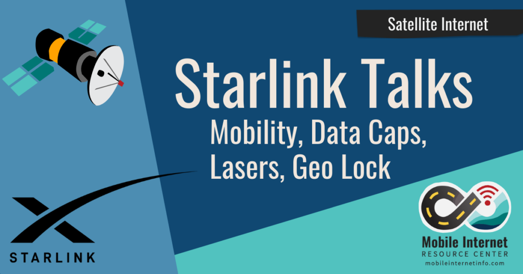 News Header: Starlink Update: SpaceX Talks Mobility, Data Caps, Geo-Locking, Space Lasers, and More