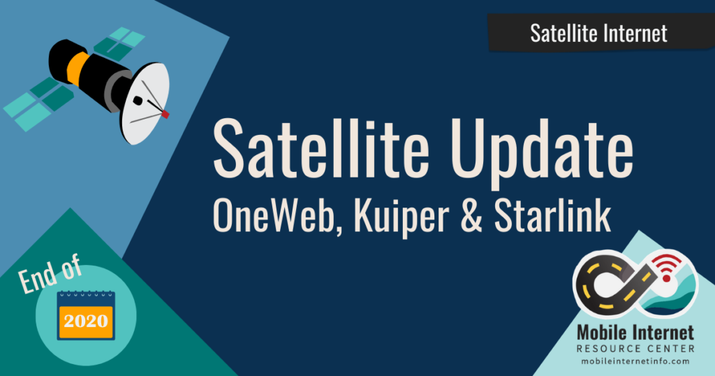 Satellite internet update for late 2020 news header
