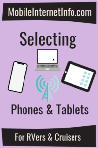 selecting smartphones and celluar tablets laptops