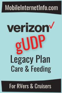 Verizon gUDP Legacy Plan Guide