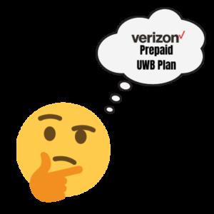verizon prepaid uwb thinking emoji