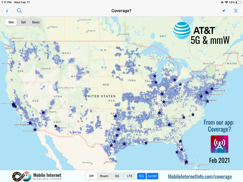 att 5g mmwave coverage feb 2021