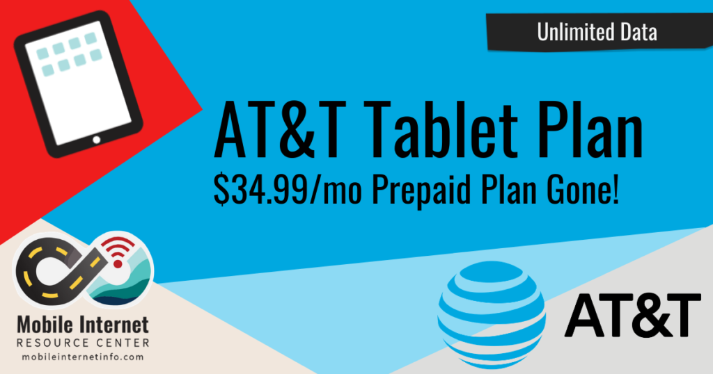 at&t prepaid 34.99 tablet plan removed discontinued