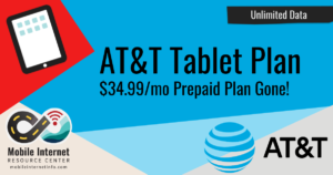 AT&T Pulls Prepaid DataConnect $34.99/Month Unlimited Tablet Plan Story Header