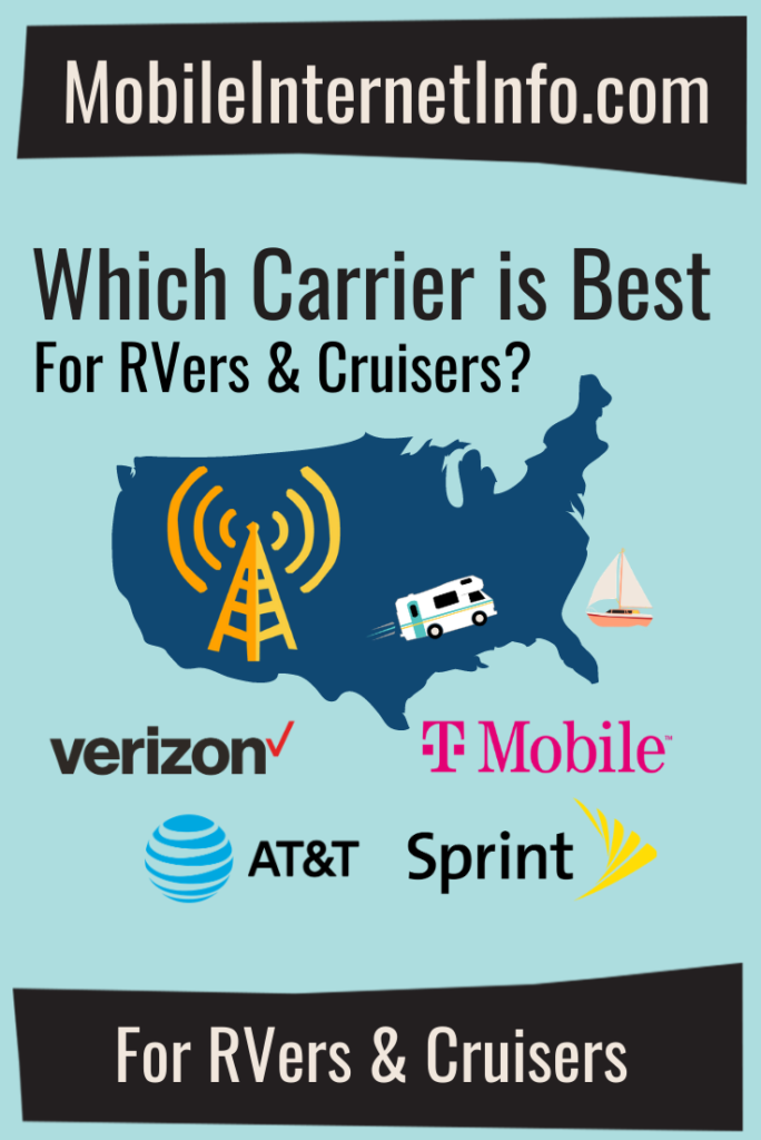 major us cellular carriers for rvers and boaters