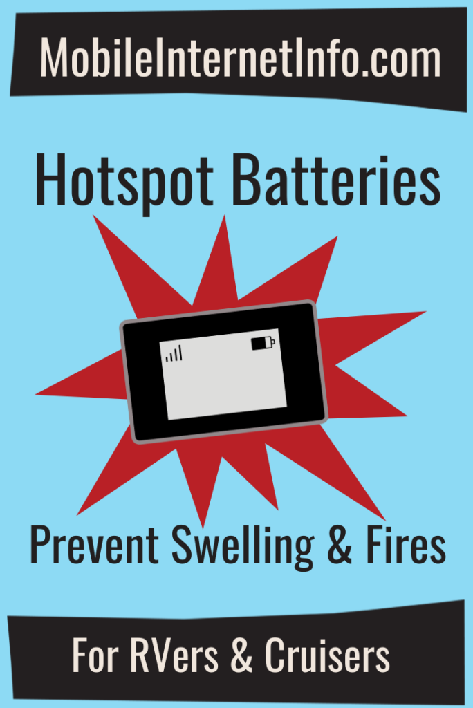 mobile hotspot battery swelling fires health