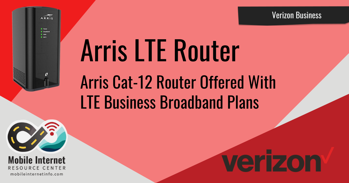 news header arris lte router and verizon lte broadband plans