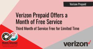 verizon prepaid month free service promo