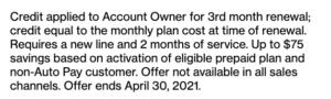 verizon prepaid third month free promo fine print