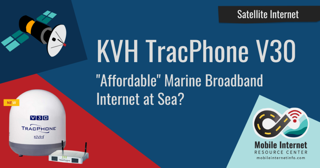 kvh v30 marine satellite unlimited internet