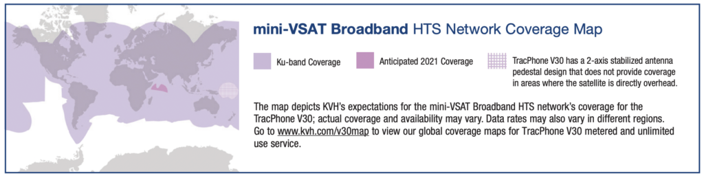 kvh vsat coverage
