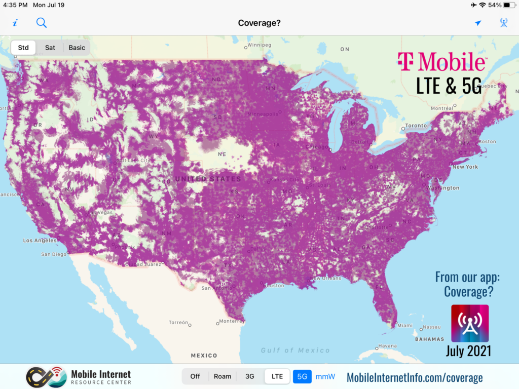 t mobile lte 5g coverage july 2021