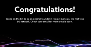 dish project genesis welcome