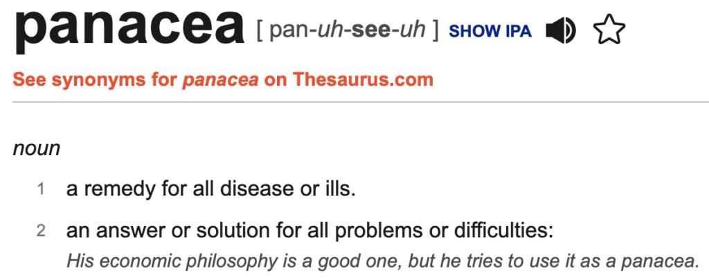 panacea definition
