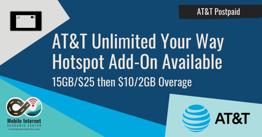att hotspot add on unlimited your way july 2021