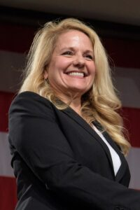 1024px Gwynne Shotwell at 2018 Commercial Crew announcement