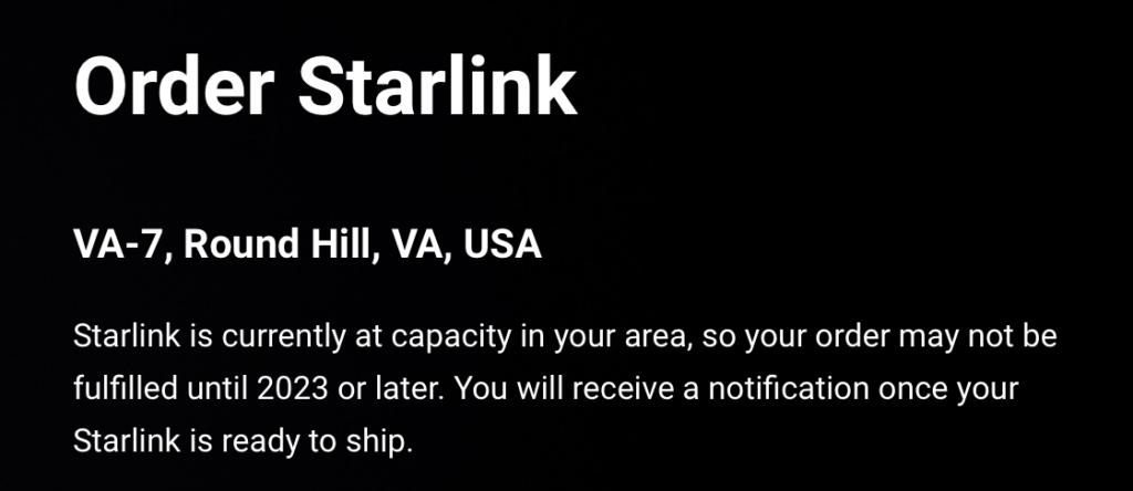Starlink Order 2023
