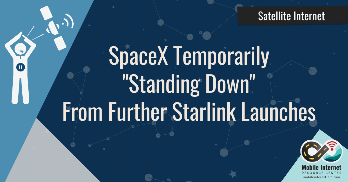 spacex stand down from further launches temprorary