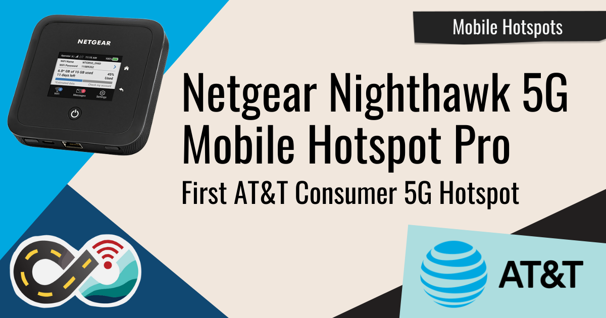 Article header: Netgear Nighthawk 5G Mobile Hotspot Pro Launched on AT&T