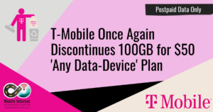 T Mobile disc 100gb 50 again story header
