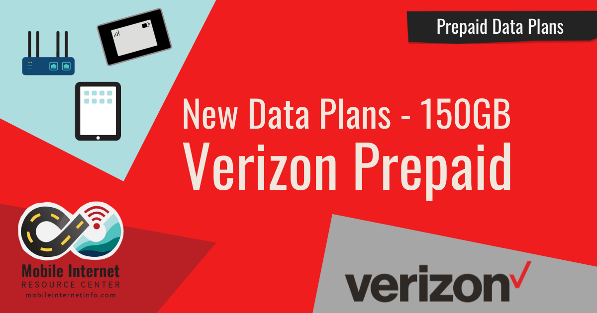 verizon data only prepaid 150gb sept 2021