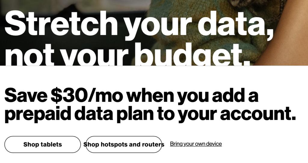 verizon prepaid data routers sept 2021