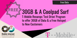 T-Mobile Test Drive Free Data Offer