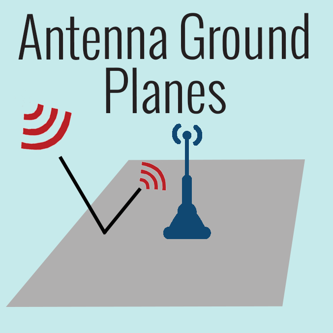 "Many antennas require a metal ""ground plane"" to function effectively."