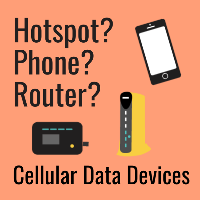 cellular data devices phone hotspot jetpack router