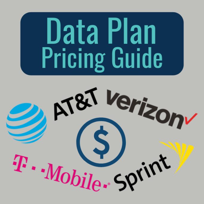 cellular data plan pricing guide verizon att tmobile sprint