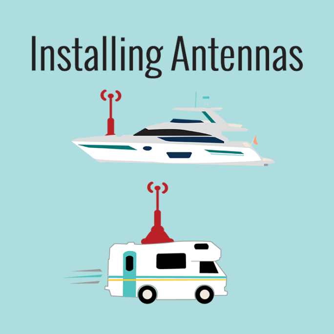 installing antennas on rvs and boats