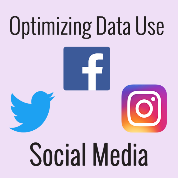 optimizing social media for minimal data use