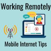 remote work over wireless mobile internet rv