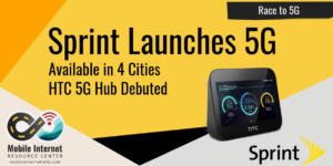 sprint 5g launch htc 5g hub