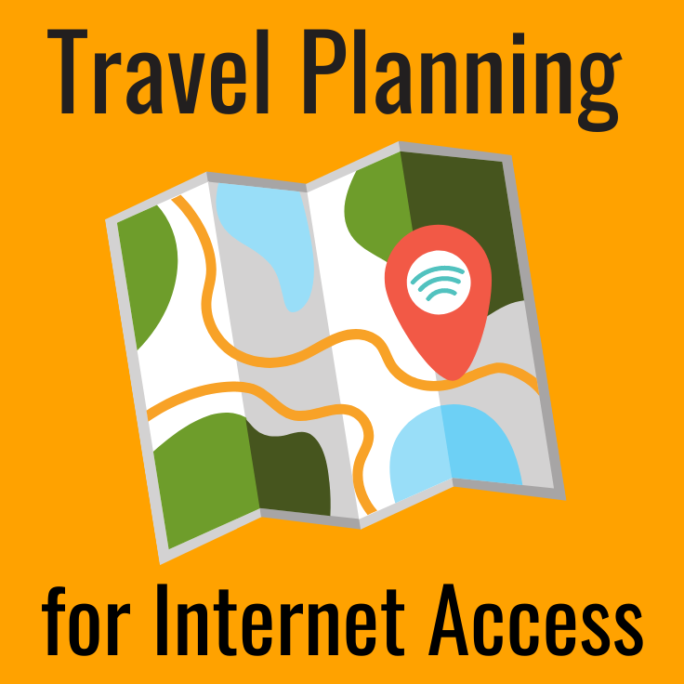 travel planning for mobile internet connectivity
