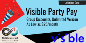 visible party pay group plan savings verizon