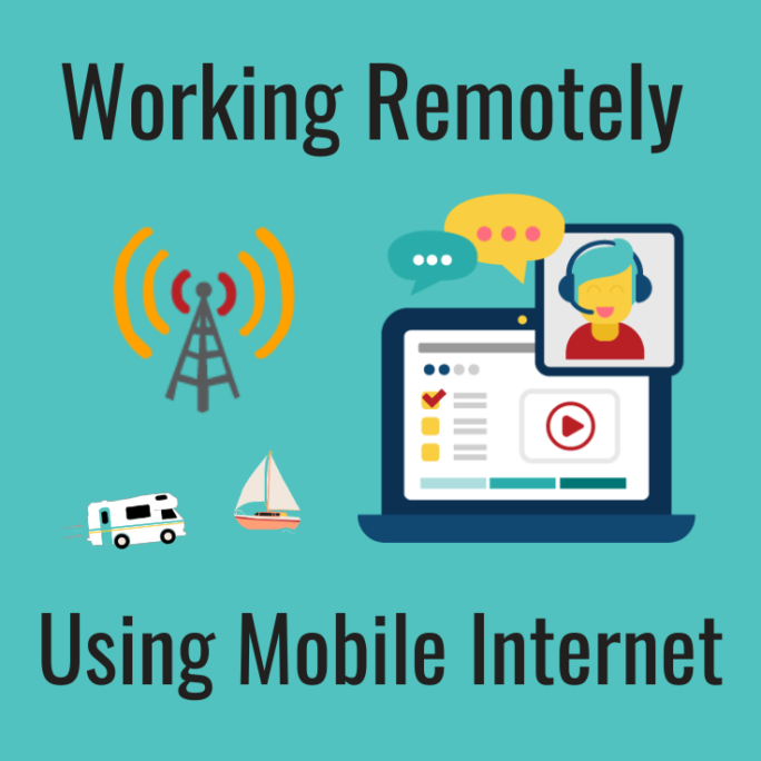 working remotely over mobile internet